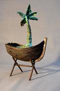 """""""Sur mon île déserte"""", sculpture en bronze, JP Douziech"""