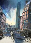 """""""La tour""""- acrylique sur toile (100x73cm), Sylvie Lavenac Bouliet"""