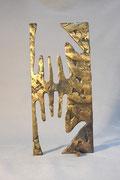 """Help"", sculpture en bronze, JP Douziech"