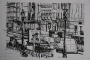"""""""Rivoli en noir et blanc""""- encre sur papier (22x19 cm), Sylvie Lavenac Bouliet"""