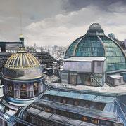 Le toit du monde- acrylique sur toile (60x60 cm), Sylvie Lavenac Bouliet
