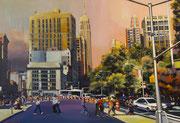 """""""Abbey road""""- acrylique sur toile (89x130 cm), Sylvie Lavenac Bouliet"""
