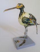 """""""La plume du peintre"""", (H32x28x15 cm), sculpture papier- détournement d'objets, peinture, ArtBouliet"""