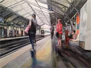 """""""2 minutes d'attente""""- acrylique sur toile- (73x92 cm) de Sylvie Lavenac Bouliet"""