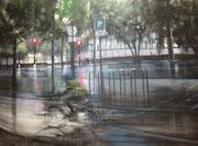 """"""" Quai des Célestins""""- technique mixte sur toile-(50x61 cm), Sylvie Lavenac Bouliet"""