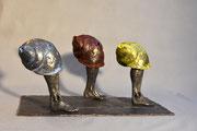 """""""La course des escargots"""" sculpture en bronze, JP Douziech"""