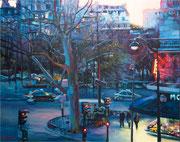 """""""L'arbre bleu""""- acrylique sur toile (89x130 cm), Sylvie Lavenac Bouliet"""