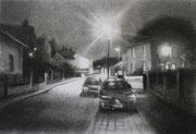 """""""Sceaux Watt""""- fusain- technique mixte sur toile- (30x40 cm), Sylvie Lavenac Bouliet"""