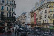 """""""Rive droite""""- acrylique sur toile (16x24 cm), Sylvie Lavenac Bouliet"""