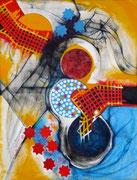 Testigos del Caos - Acrílico sobre lienzo  116 x 89 cm  /En Arte Actual Gallery On Line