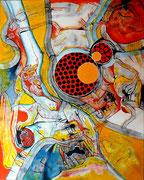 Mundos Mínimos 1 (serie Sumisión o Rebeldía) - Mixta sobre lienzo 80 x 65 cm