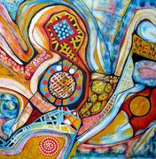 Destellos - Acrílico sobre lienzo  100 x 100