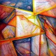 Lítico 2- Mixta sobre lienzo 80 x 80 cms