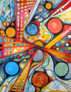 Sinergía Cósmica - Acrílico sobre lienzo  116 x 89 cm
