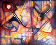 Nocturno Lítico y Selénico 80 x 60 cms