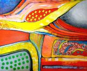 Alto Astral (serie Seguridad) - Mixta sobre lienzo 100 x 82 cm