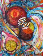 Ojos de Dios - Acrílico sobre lienzo  116 x 89 cm