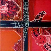 Tejiendo Ilusiones II - Mixta sobre lienzo 25 x 25 cm