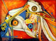 Vigias - Serie Juicios y Prejuicios Acrílico sobre lienzo 130 x 97 cm  /En Arte Actual Gallery On Line
