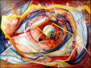 Onda Expansiva - Mixta sobre lienzo 130 x 97 cm (serie Negra)  /En Arte Actual Gallery On Line  /En Arte Actual Gallery On Line