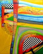 Brisas de Esperanza (serie Seguridad) - Mixta sobre lienzo 100 x 82 cm VENDIDA
