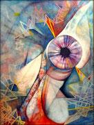 Gran Juez - Serie Juicios y Prejuicios  Acrílico sobre lienzo 130 x 97 cm  /En Arte Actual Gallery On Line
