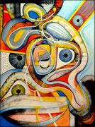 Reality Show Obsetion-  Serie Juicios y Prejuicios- Acrílico sobre lienzo 130 x 97 cm