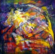 De Profundis 2 - Mixta sobre lienzo 50 x 50 cm