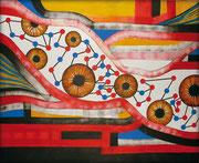 Corriente de Opinión - Serie Juicios y Prejuicios Acrílico sobre lienzo 160 x 120 cm