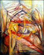 Uxoricidio...y Alma en Fuga - Acrílico sobre lienzo 100 x 80 cm (serie Negra)