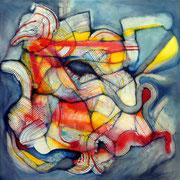 Embolic - Mixta sobre lienzo  80 x 80 cms