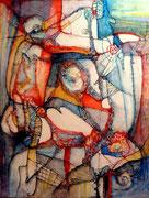 Emboscada - Mixta sobre lienzo 116 x 89 cm (serie Negra)