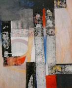 Esencia y Rito - Mixta sobre lienzo 73 x 60 cms  /En Arte Actual Gallery On Line