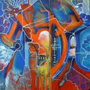 Anima Enmarañada (serie Inseguridad) - Mixta sobre lienzo 50 x 50 cm