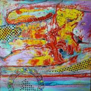Butterfly´s Project (serie Seguridad) - Mixta sobre tela 80 x 80 cm ADQUISICIÓN FUNDACIÓN DEARTE Palacio Medinacelli (Soria)