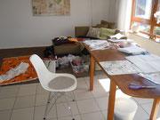 .... Wohnzimmer wird als Nähzimmer umfunktioniert