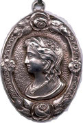 Medallion of Emma Elisabeth made by her brother Johannes Paul Stoye (engraver)