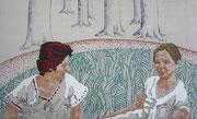 Freundinnen, 2007, 69 x 114 cm (gepolstert)