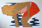 Die Muschelsammlerin, 2013, ca.8 2 x 122 cm, Acryl auf Sperrholz