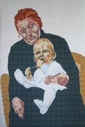Louise und der kleine Jürgen, 2007, 145 x 97 cm (gepolstert)