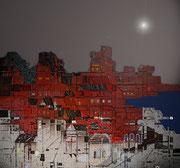 Crépuscule - Art Numérique - Sous Plexi