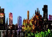 Les Deux Mondes - Art Numérique - Sous Plexi - 72 x 53 cm