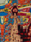 Balade Insolite - Art Numérique - Sous Plexi - 70 x 52 cm