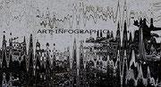 Spectre - Art Numérique - Sous Plexi - 90 x 50 cm