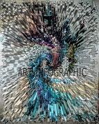 """""""FRACTAL"""" Image digitale impression sous plexi -  65 x 80 cm"""