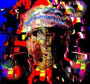 Le Mineur - Art Numérique - Sous Plexi - 60 x 65 cm