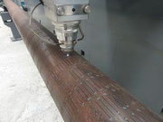 Laser cutting oil slotted liner