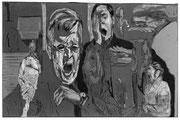Die Müden, 2013, digitale Radierung auf PVC, 200x300 cm, Auflage 3