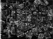 Kitt/Genese, 2013, digitale Radierung auf PVC, 200x300 cm, Auflage 3