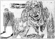 Die Schlaffen, 2013, digitale Radierung auf PVC, 200x300 cm, Auflage 3